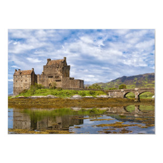 Panorama Eilean Donan Castle viewed from south 13 Cm X 18 Cm Invitation Card
