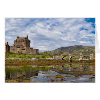 Panorama Eilean Donan Castle viewed from south Note Card