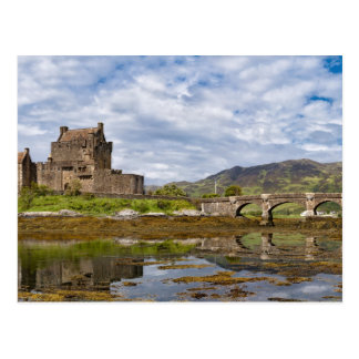 Panorama Eilean Donan Castle viewed from south Postcard