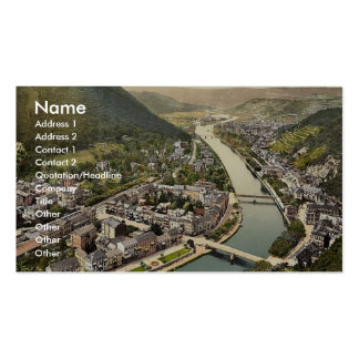 Panorama, Ems (i.e., Bad Ems), the Rhine, Germany Pack Of Standard Business Cards