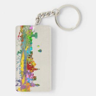 Panorama Isla Cristina Double-Sided Rectangular Acrylic Key Ring