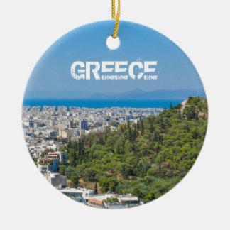 Panorama of Athens, Greece Christmas Ornament