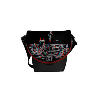 Panorama of Berlin in 3D Messenger Bag