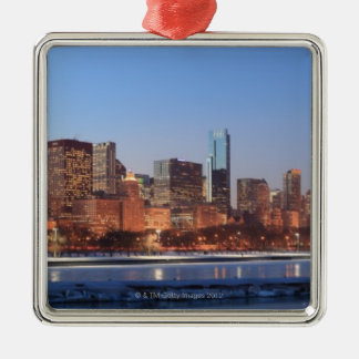 Panorama of Chicago, Illinois across Lake Christmas Ornament
