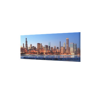Panorama of Chicago, Illinois across Lake Gallery Wrapped Canvas