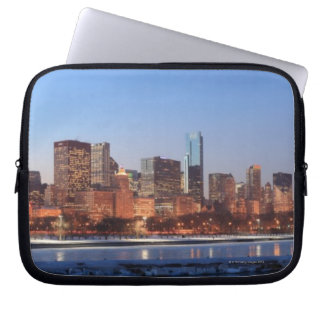 Panorama of Chicago, Illinois across Lake Laptop Sleeve