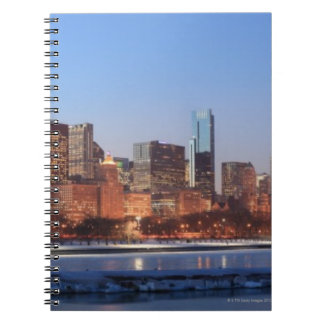 Panorama of Chicago, Illinois across Lake Spiral Note Books