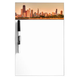 Panorama of Chicago skyline at sunrise Dry Erase Board