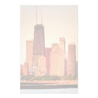Panorama of Chicago skyline at sunrise Personalised Stationery