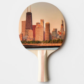 Panorama of Chicago skyline at sunrise Ping Pong Paddle