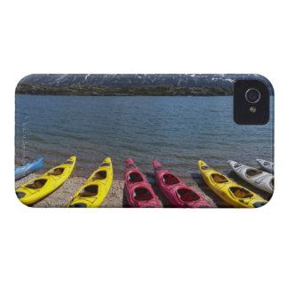 Panorama of kayaks on Bernard Lake in Alaska 2 iPhone 4 Case-Mate Case