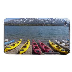 Panorama of kayaks on Bernard Lake in Alaska 2 iPod Case-Mate Case