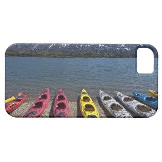 Panorama of kayaks on Bernard Lake in Alaska Case For The iPhone 5