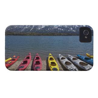 Panorama of kayaks on Bernard Lake in Alaska iPhone 4 Covers