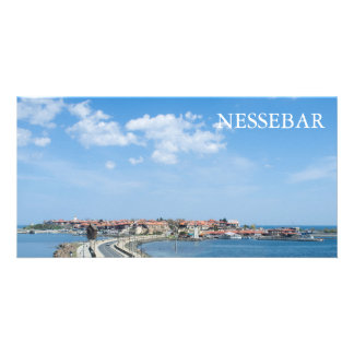 Panorama of Old Nessebar. Bulgaria Photo Card Template