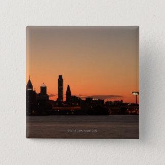 Panorama of Philadelphia, Pennsylvania 15 Cm Square Badge