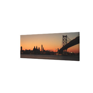 Panorama of Philadelphia, Pennsylvania Canvas Print