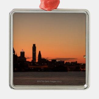 Panorama of Philadelphia, Pennsylvania Christmas Ornament