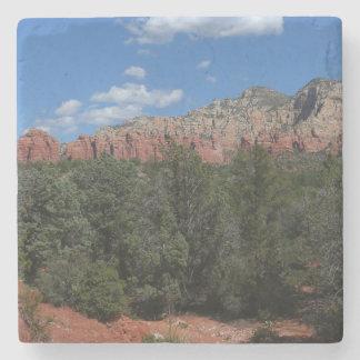 Panorama of Red Rocks in Sedona Arizona Stone Coaster