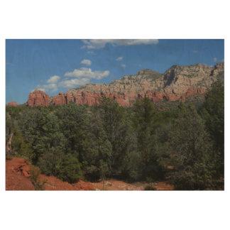 Panorama of Red Rocks in Sedona Arizona Wood Poster