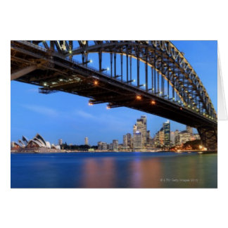 Panorama of Sydney Harbour Bridge, Sydney Opera Greeting Card