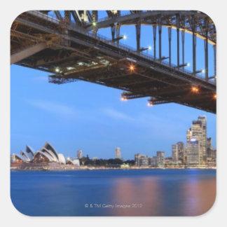 Panorama of Sydney Harbour Bridge, Sydney Opera Square Sticker