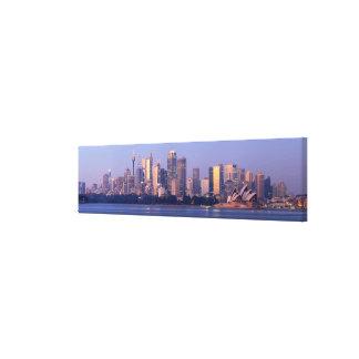 Panorama of Sydney Skyline at Sunset, Australia Canvas Print