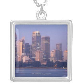 Panorama of Sydney Skyline at Sunset, Australia Silver Plated Necklace