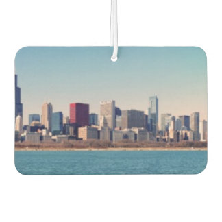Panorama of the Chicago skyline Car Air Freshener
