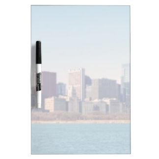 Panorama of the Chicago skyline Dry Erase Whiteboard