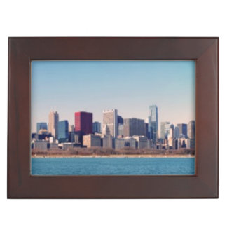 Panorama of the Chicago skyline Keepsake Box