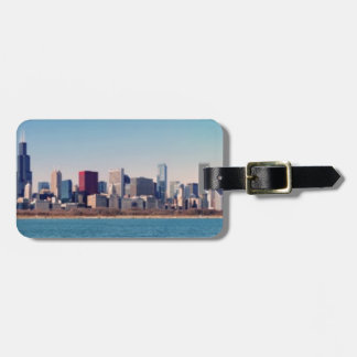 Panorama of the Chicago skyline Luggage Tag