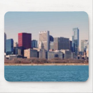 Panorama of the Chicago skyline Mouse Mat