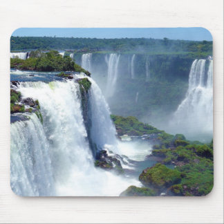 Panorama of the Iguazu Waterfalls from Brazil Mousepad