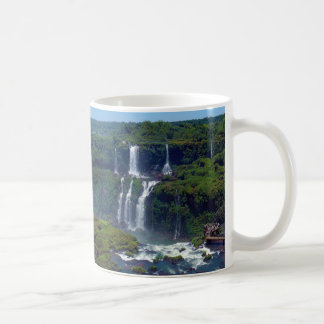 Panorama of the Iguazu Waterfalls from Brazil Coffee Mugs