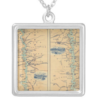 Panorama Of The Mississippi Valley Silver Plated Necklace