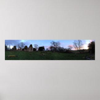 Panorama of West Culross Churchyard in Fife Poster