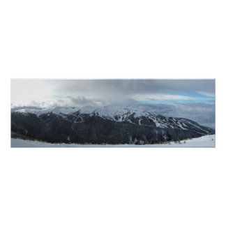 Panorama of Whistler's Symphony and Harmony Area Poster