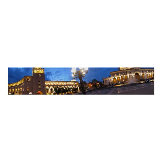 Panorama of Yerevan Poster