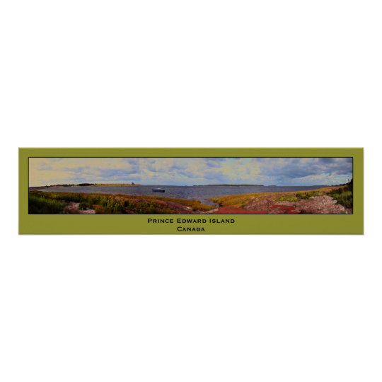 Panorama painting of Prince Edward Island, Canada Poster
