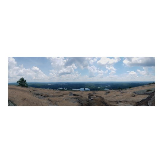 Panorama View from Stone Mountain Poster