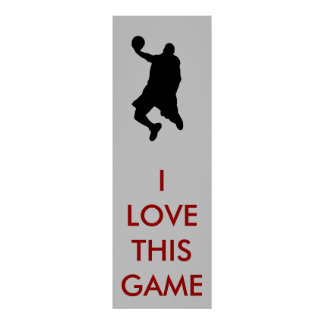 Panoramic Basketball Player Silhouette Poster