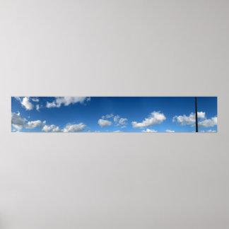 Panoramic Beach Clouds Poster