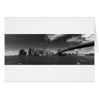 Panoramic Black White Brooklyn Greeting Card
