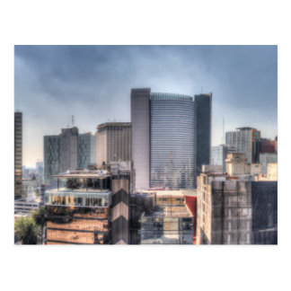 Panoramic Cityscape Of Mexico City Postcard