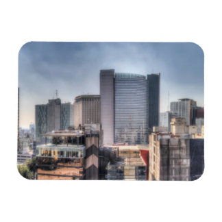Panoramic Cityscape Of Mexico City Rectangular Photo Magnet