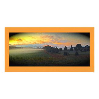 Panoramic Farm Sunrise Photo Card Template