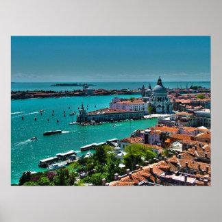 Panoramic Image of Saint Mark Basin Poster