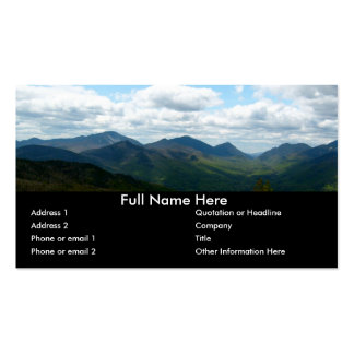 Panoramic Mountain View Bookmark Pack Of Standard Business Cards