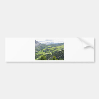 Panoramic mountain view car bumper sticker